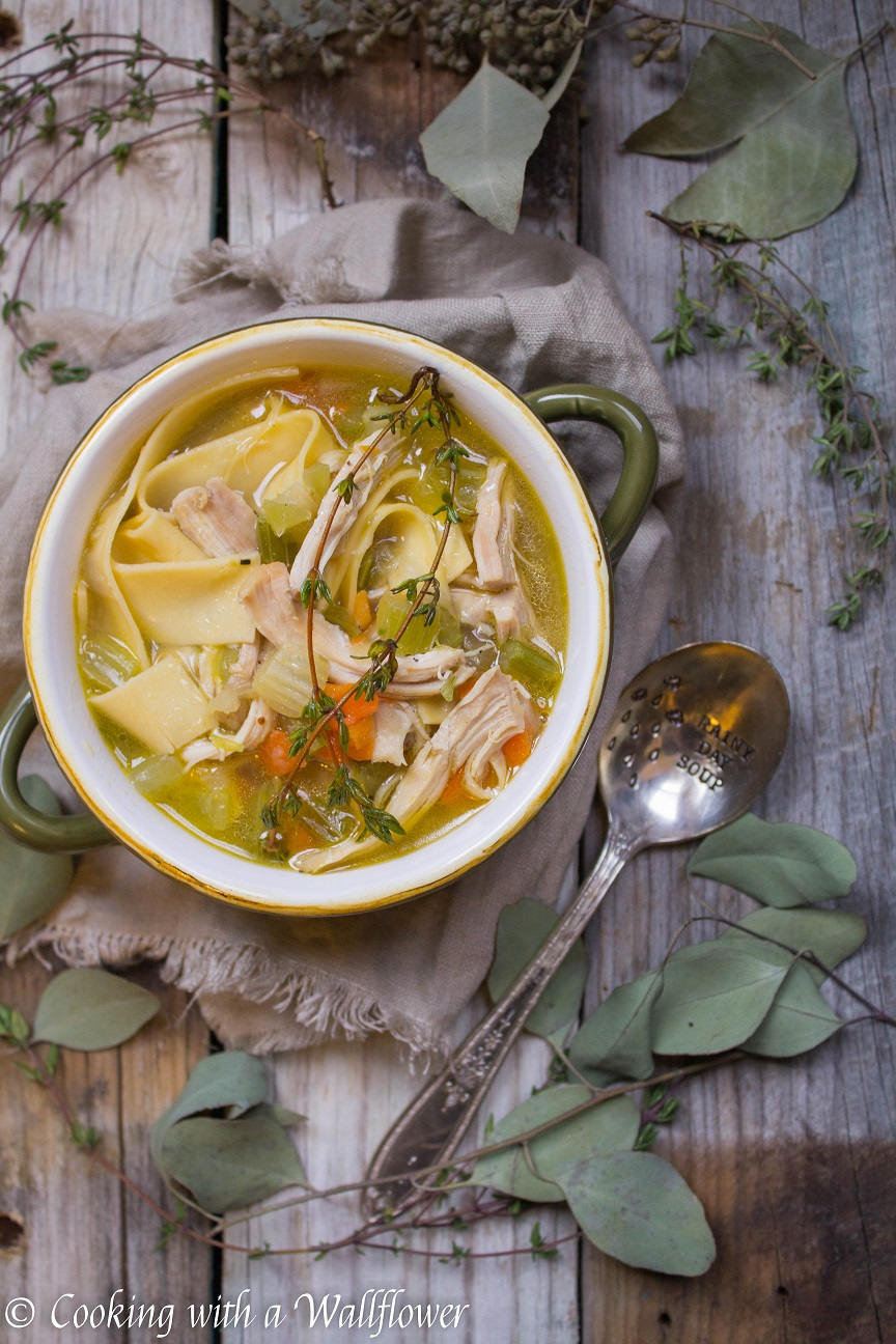 chicken noodle soup - cooking with a wallflower