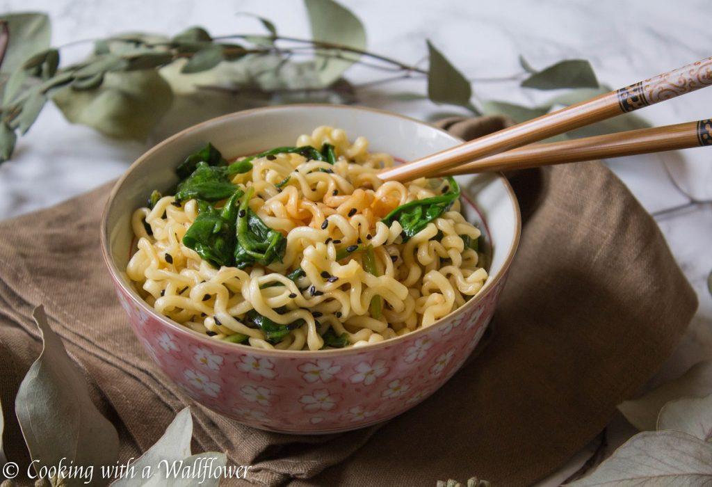 Garlic Sesame Ramen | Cooking with a Wallflower