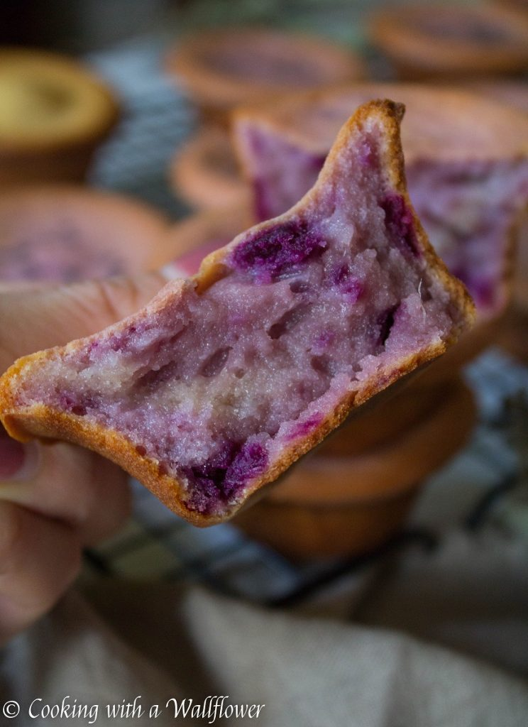 Ube Mochi Muffins | Cooking with a Wallflower