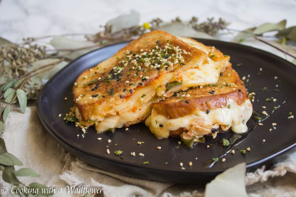Kimchi Grilled Cheese Sandwich  | Cooking with a Wallflower