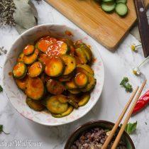 Gochujang Cucumbers | Cooking with a Wallflower