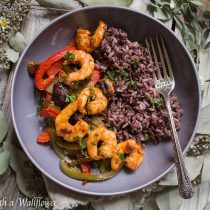 Honey Chipotle Shrimp with Fajita Vegetables | Cooking with a Wallflower