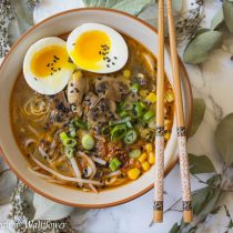Spicy Miso Mushroom Ramen | Cooking with a Wallflower