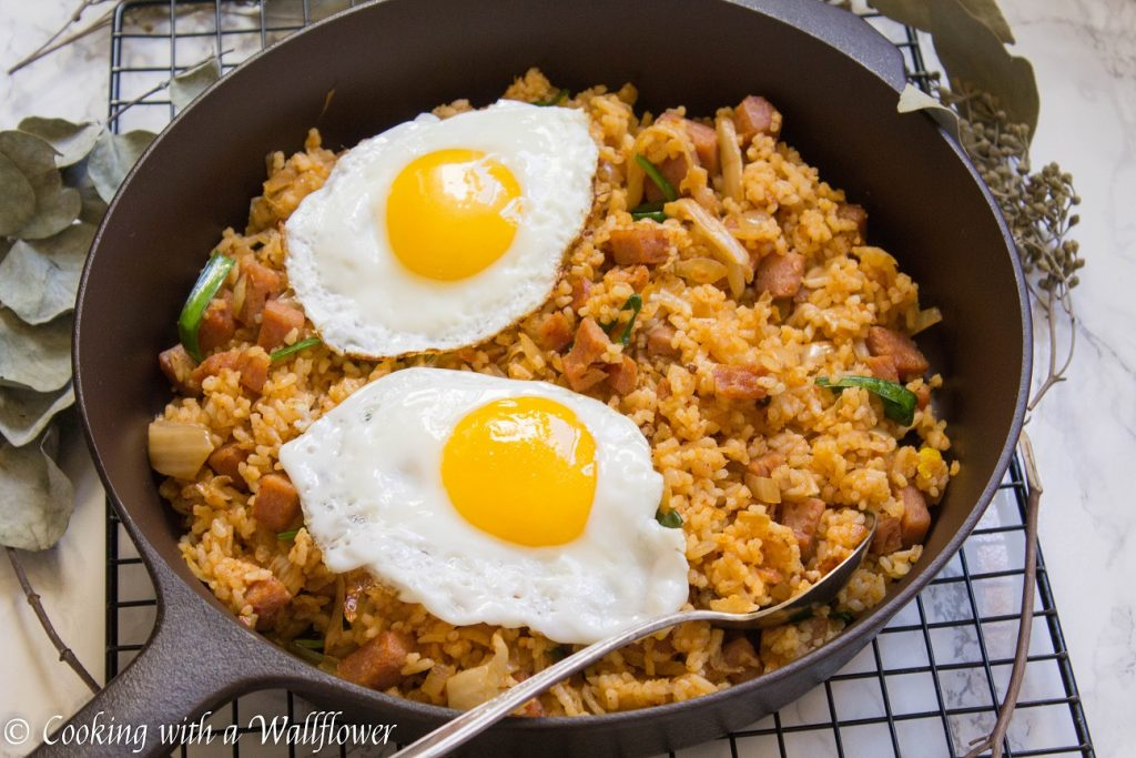 Kimchi Spam Fried Rice | Cooking with a Wallflower