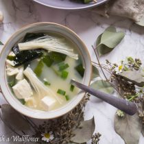 Mushroom Miso Soup | Cooking with a Wallflower