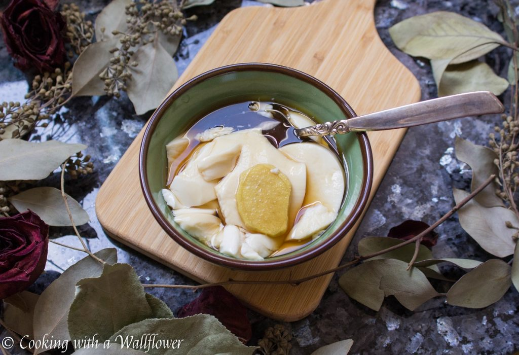 Silken Tofu Pudding with Ginger Syrup | Cooking with a Wallflower