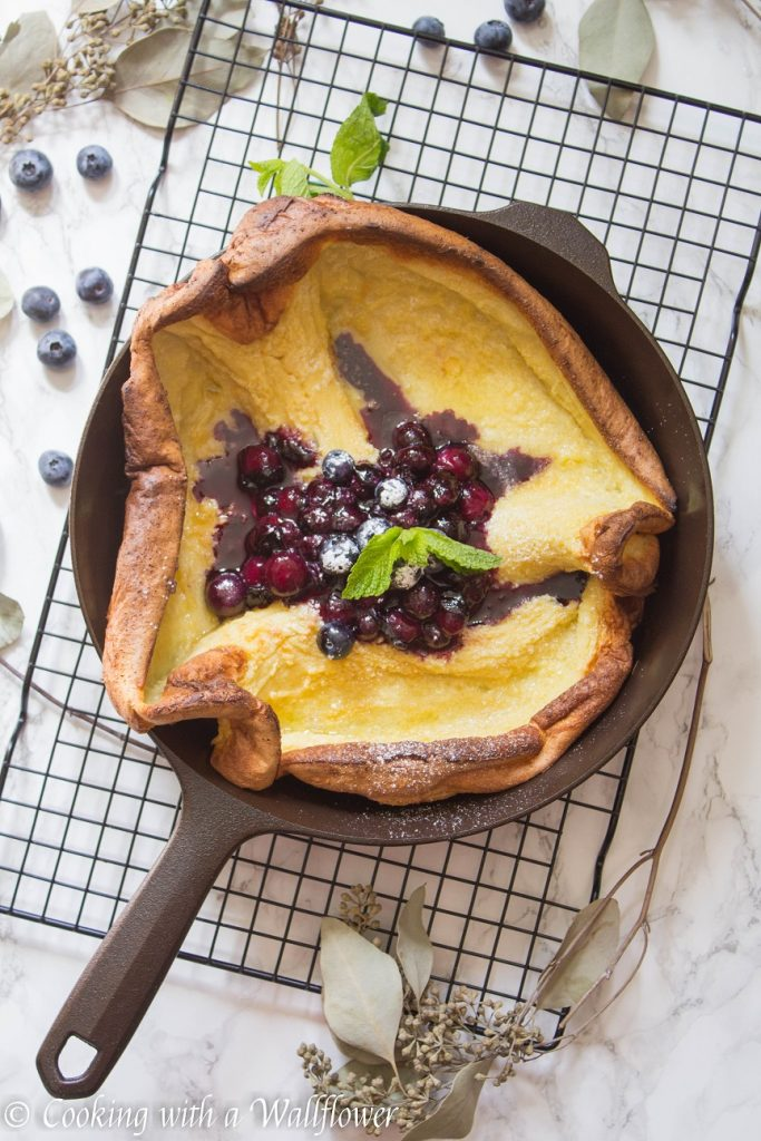 Blueberry Dutch Baby Pancake | Cooking with a Wallflower