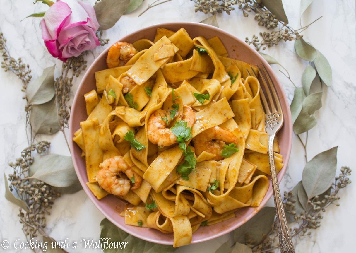 Cajun Garlic Shrimp Pappardelle