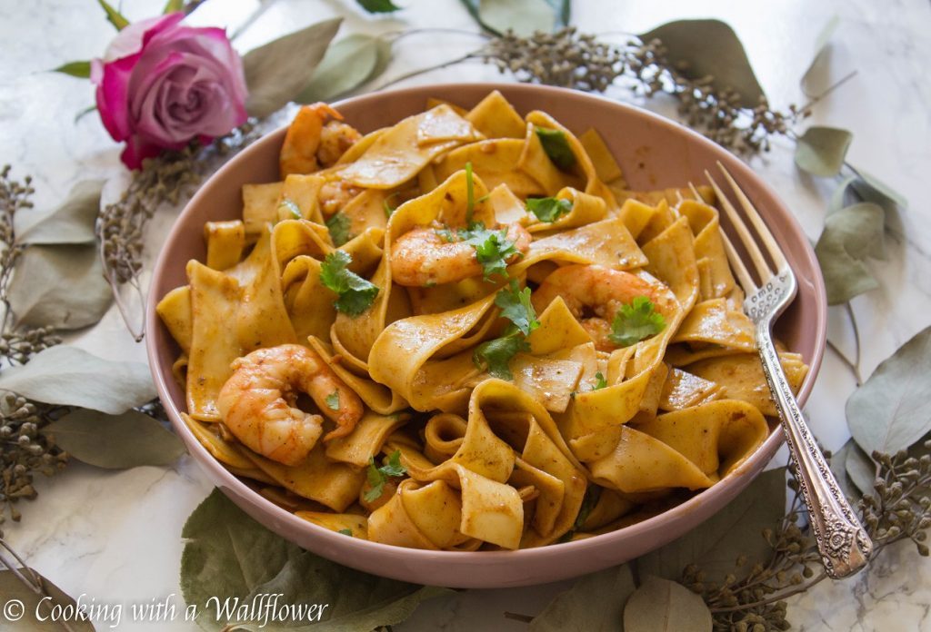Cajun Garlic Shrimp Pappardelle | Cooking with a Wallflower