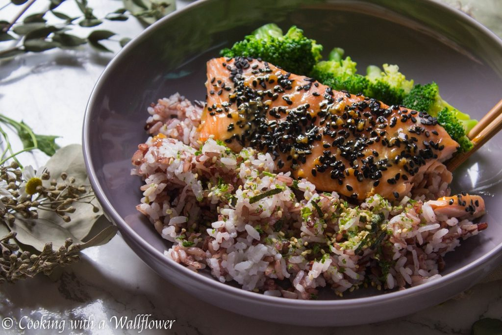 Baked Salmon Teriyaki with Vegetables | Cooking with a Wallflower