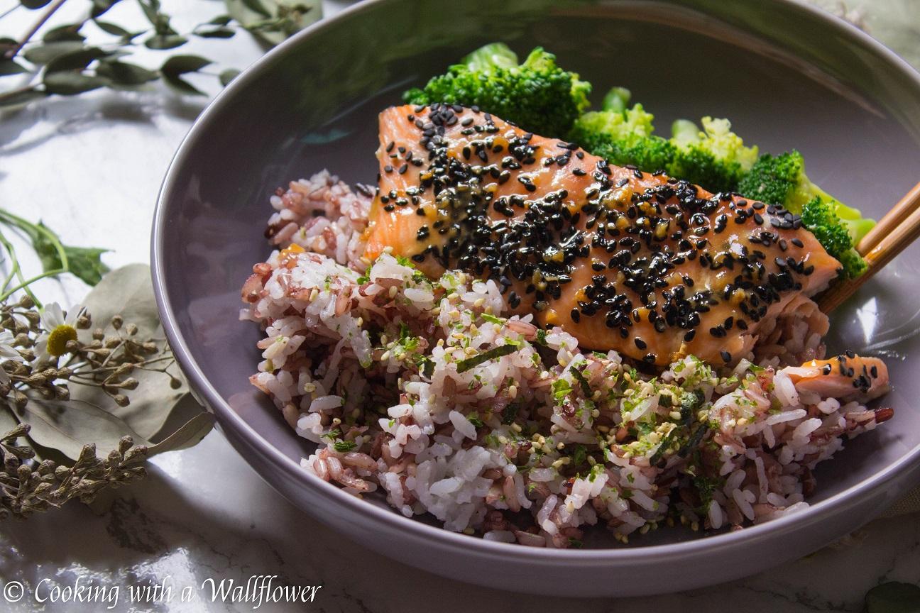 Baked Salmon Teriyaki with Vegetables