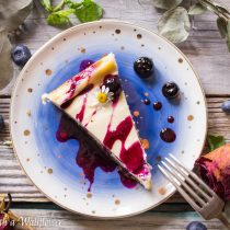 Blueberry Glazed Vanilla Cheesecake | Cooking with a Wallflower