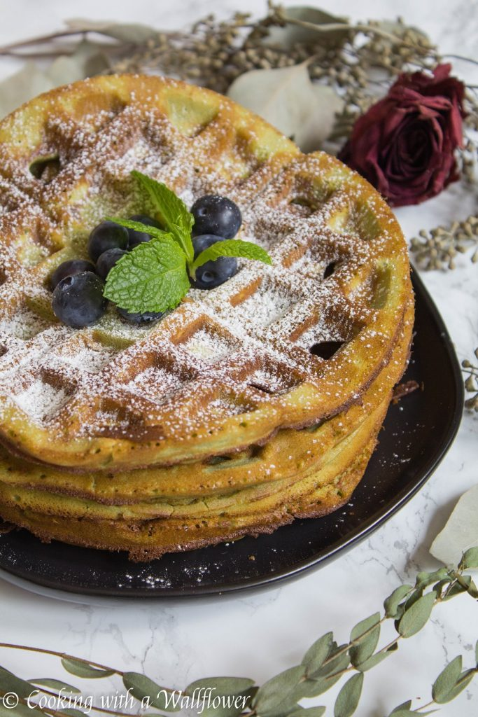 Matcha Mochi Waffles | Cooking with a Wallflower