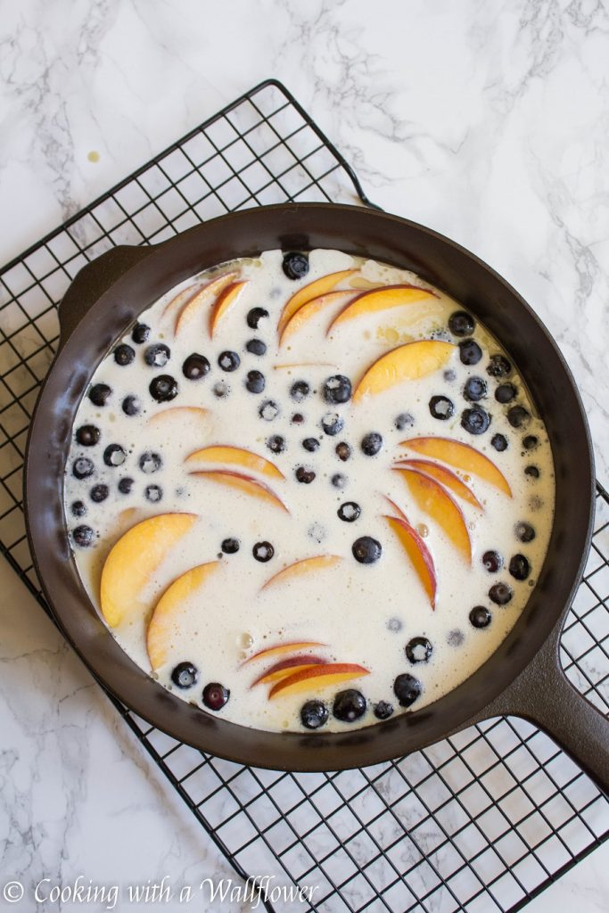 Peach Blueberry Clafoutis | Cooking with a Wallflower