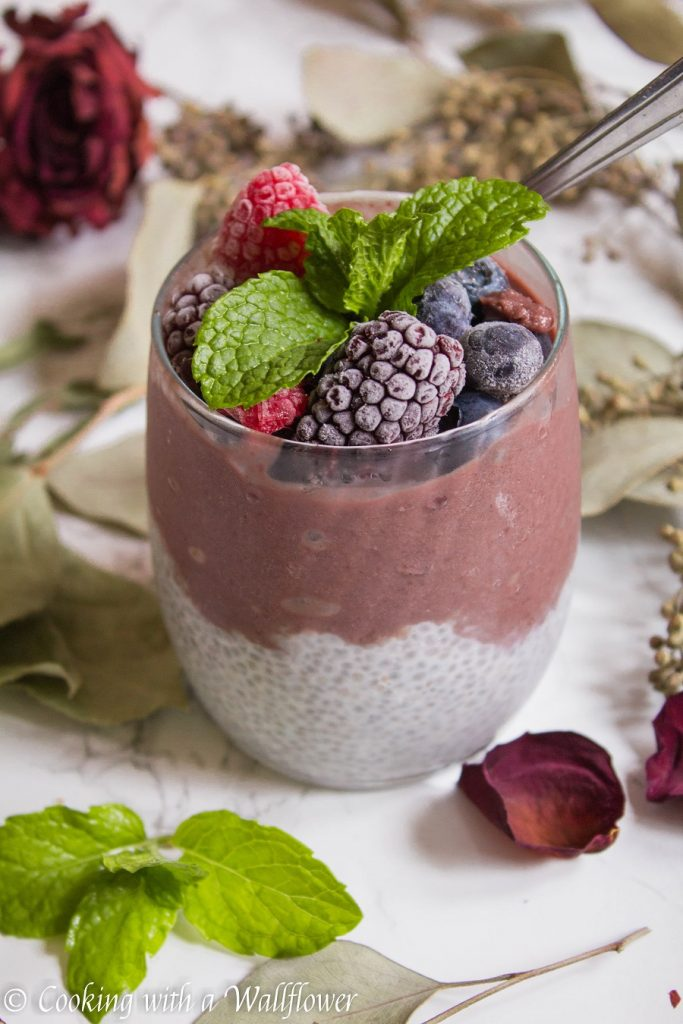 Acai Layered Chia Pudding | Cooking with a Wallflower 1