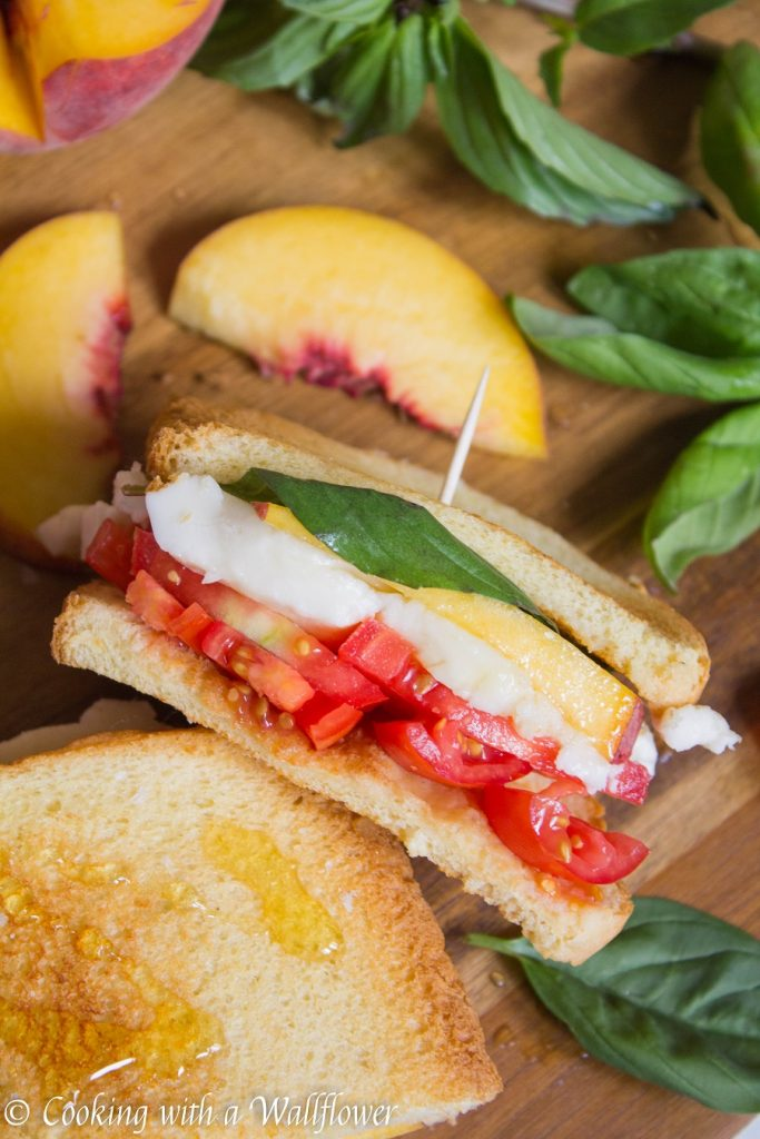 Peach Caprese Sandwich | Cooking with a Wallflower