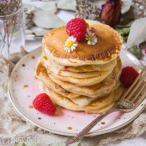 Raspberry Lemon Yogurt Pancakes | Cooking with a Wallflower