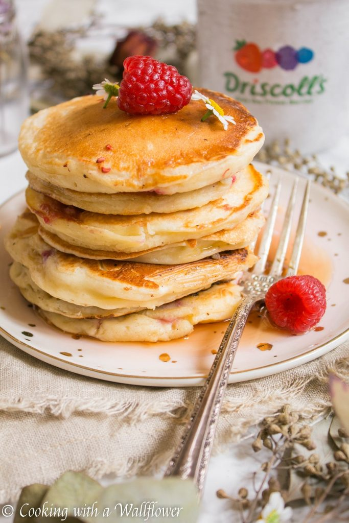 Raspberry Lemon Yogurt Pancakes | Cooking with a Wallflower