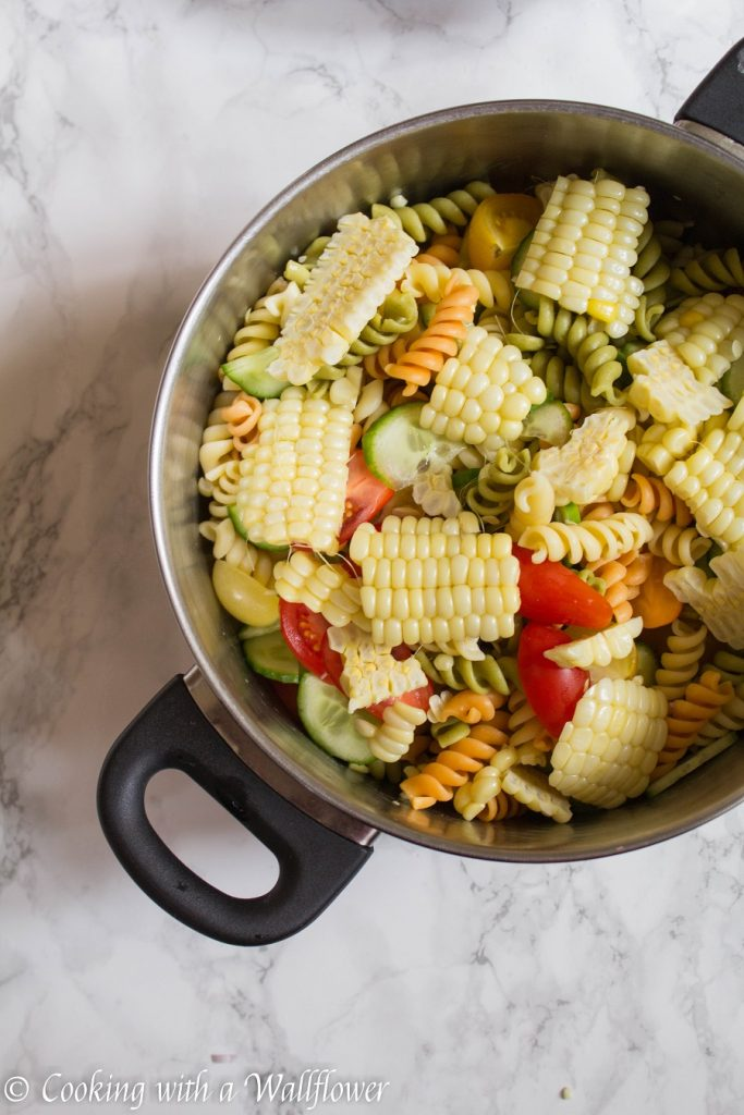Summer Market Pasta Salad | Cooking with a Wallflower