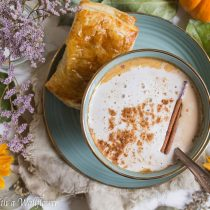 Dirty Pumpkin Chai Oatmeal Latte | Cooking with a Wallflower