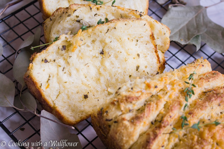 Garlic Parmesan Pull Apart Bread | Cooking with a Wallflower