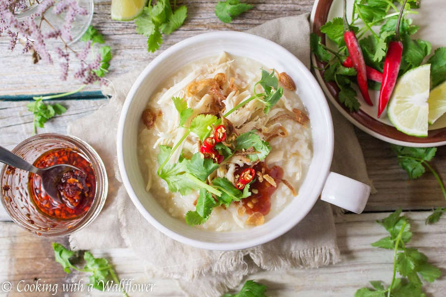 Leftover Turkey Congee | Cooking with a Wallflower