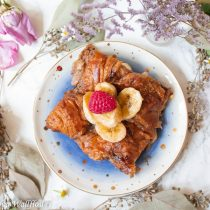 Baked Nutella Croissant French Toast   Cooking with a Wallflower