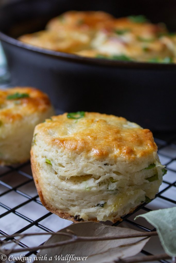 Scallion Buttermilk Biscuits | Cooking with a Wallflower