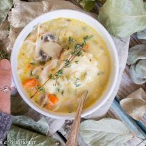Creamy Chicken Dumpling Soup | Cooking with a Wallflower