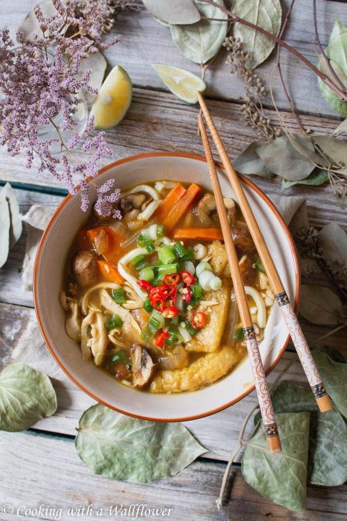 Japanese Chicken Curry Udon Noodle Soup | Cooking with a Wallflower