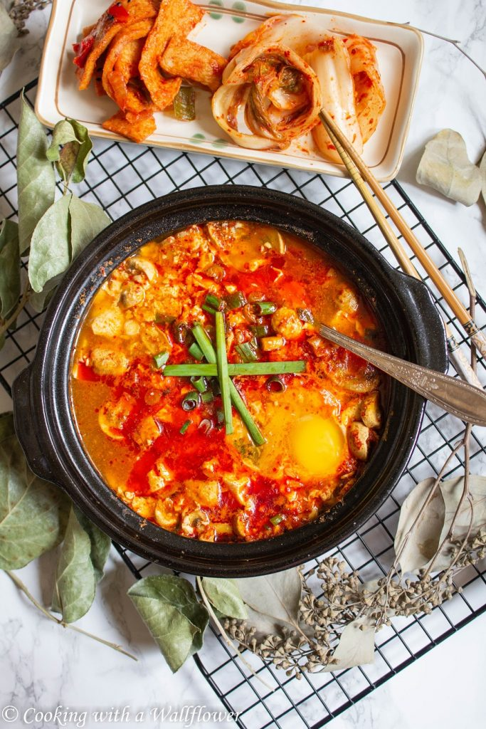 Korean Style Spicy Soft Tofu Stew | Cooking with a Wallflower