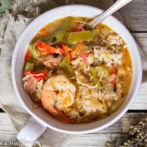 Chicken Sausage Gumbo with Shrimp | Cooking with a Wallflower