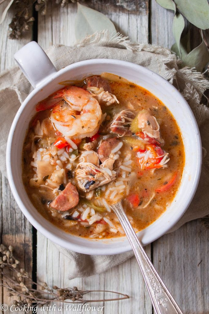 Chicken Sausage Gumbo with Shrimp   Cooking with a Wallflower