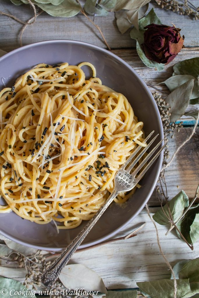 Creamy Miso Garlic Butter Pasta | Cooking with a Wallflower