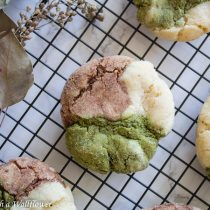 Matcha Chocolate Neapolitan Sugar Cookies | Cooking with a Wallflower