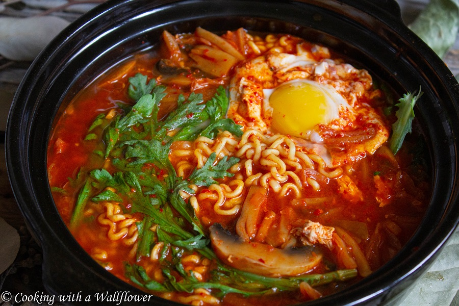 Korean Style Kimchi Ramen | Cooking with a Wallflower