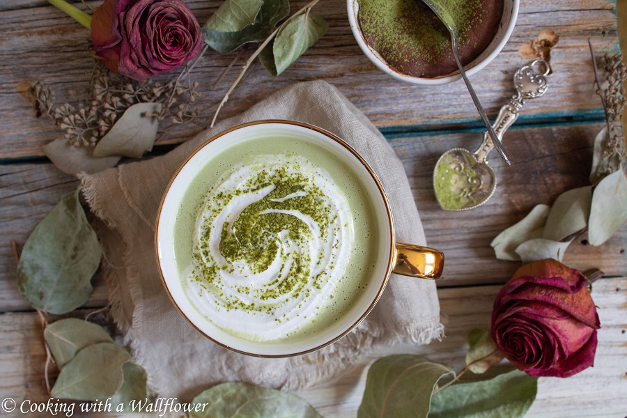 Matcha Lavender Latte | Cooking with a Wallflower