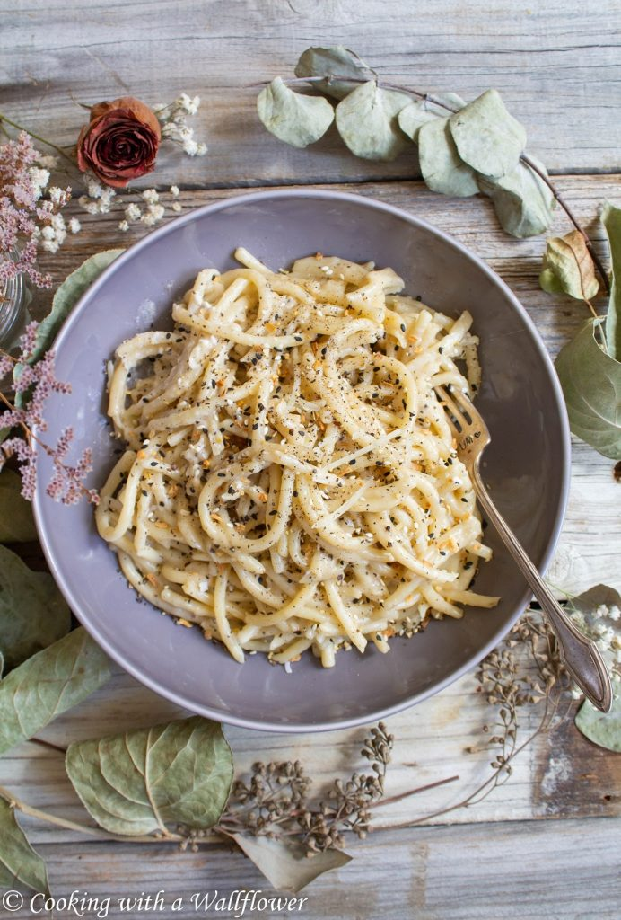 Cacio e Pepe Everything Spiced Pasta | Cooking with a Wallflower