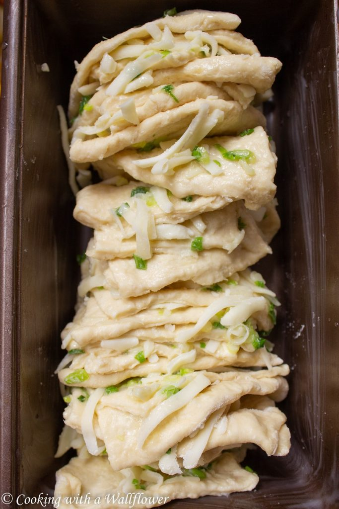 Green Onion Pull Apart Bread  | Cooking with a Wallflower