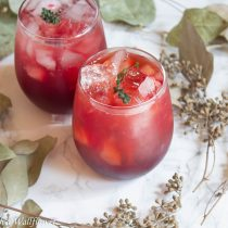 Sparkling Pomegranate Apple Lemonade | Cooking with a Wallflower