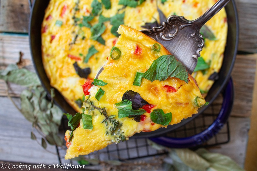 Red Bell Pepper Frittata | Cooking with a Wallflower