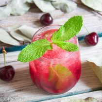 Sparkling Cherry Limeade | Cooking with a Wallflower