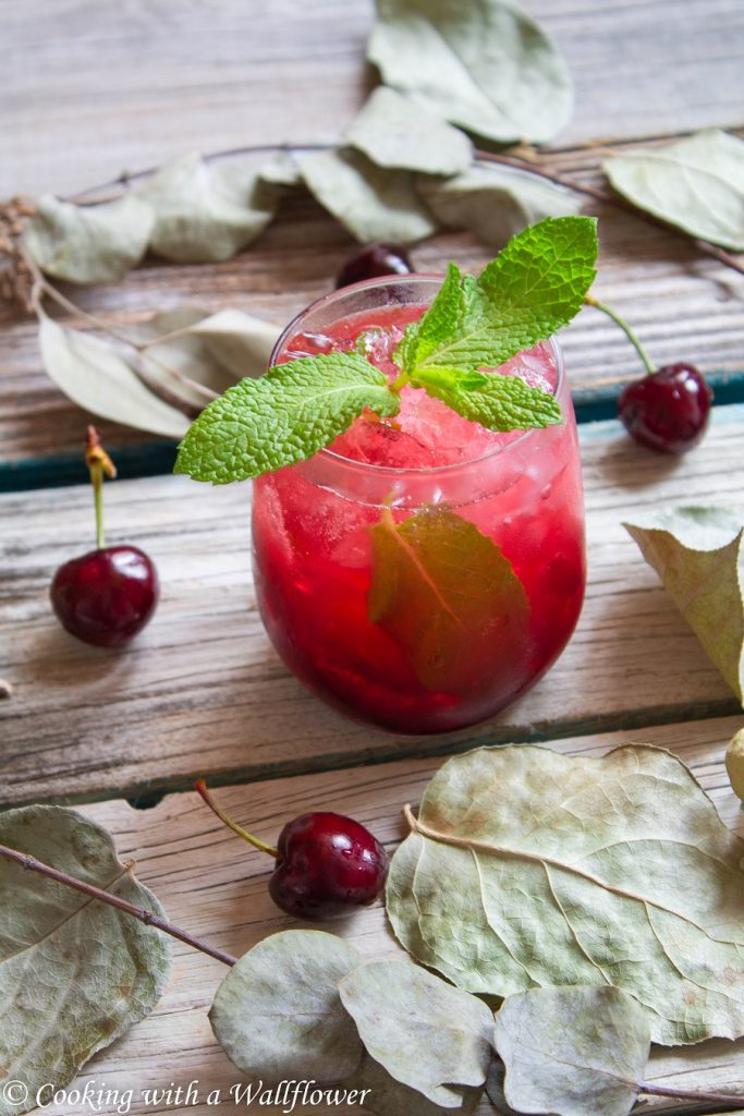 Sparkling Cherry Limeade   Cooking with a Wallflower