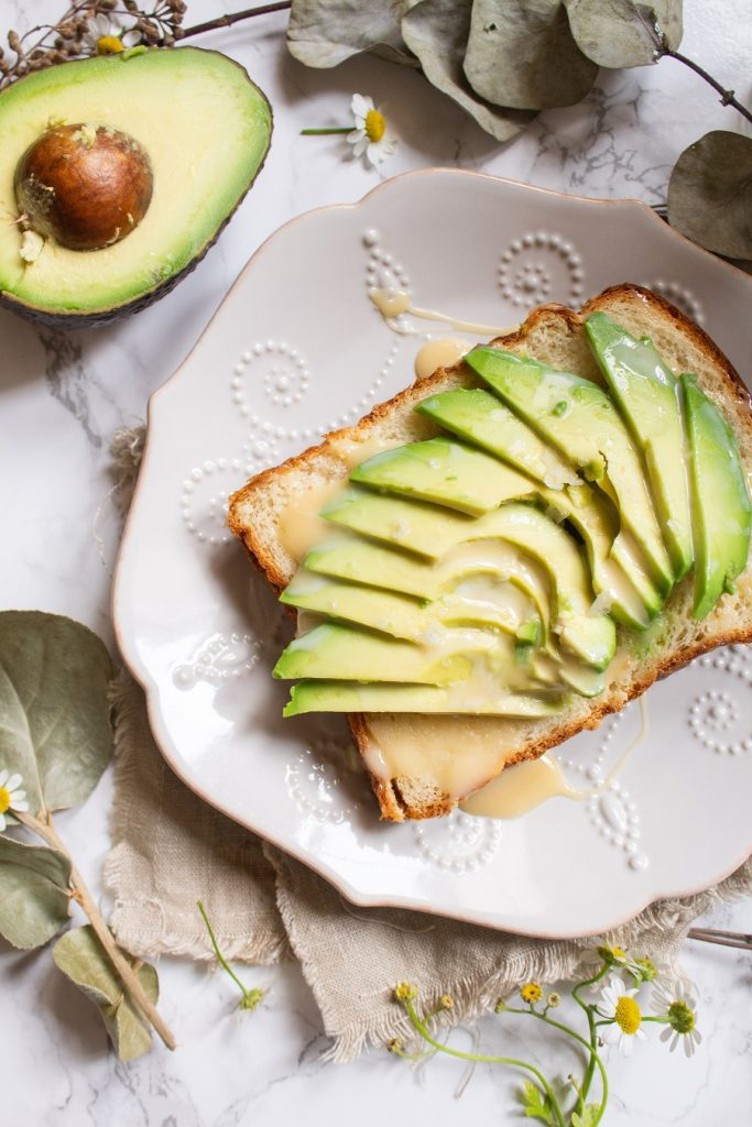 Condensed Milk Avocado Toast | Cooking with a Wallflower
