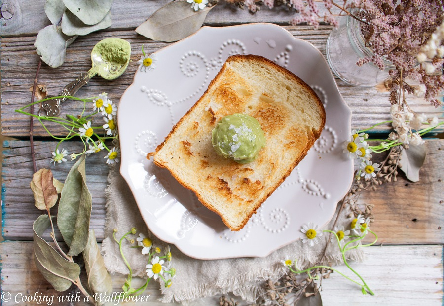 Matcha Honey Butter Toast | Cooking with a Wallflower