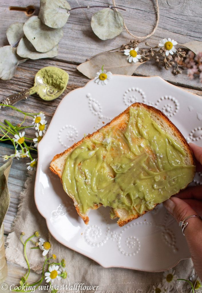 Matcha Honey Butter Toast   Cooking with a Wallflower