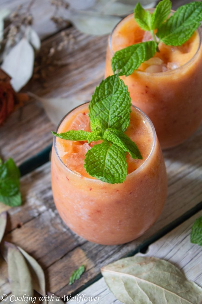 Peach Rosé Wine Slushie   Cooking with a Wallflower