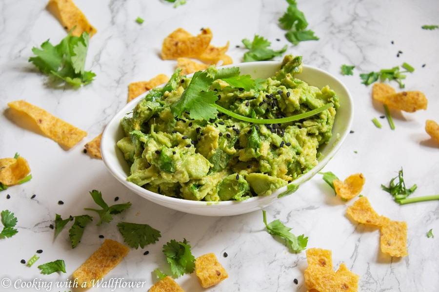Spicy Sesame Avocado Salsa  | Cooking with a Wallflower
